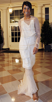 White House Social Secretary Desiree Rogers arrives for a recent State Dinner hosted by President Ob
