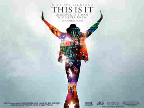 A poster for the film This Is It, which shows Michael Jackson in his last days.