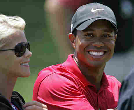 Tiger Woods with his wife, Elin Nordegren,at Torrey Pines Golf Course in San Diego.