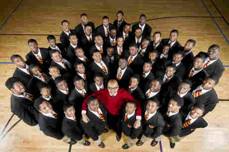 Urban Prep Academy CEO Tim King requires that all of the students wear a uniform every day.