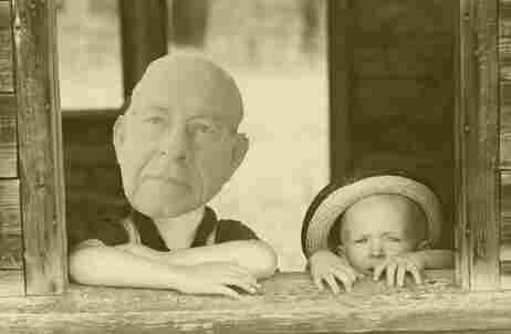 Photo illustration of Carl and Peter in the early days.