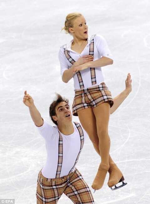 Swiss pairs skating team.