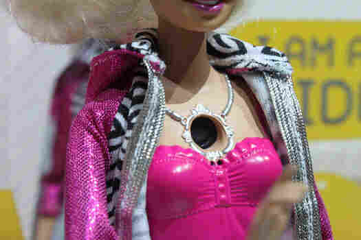 Image of new webcam equipped Barbie.