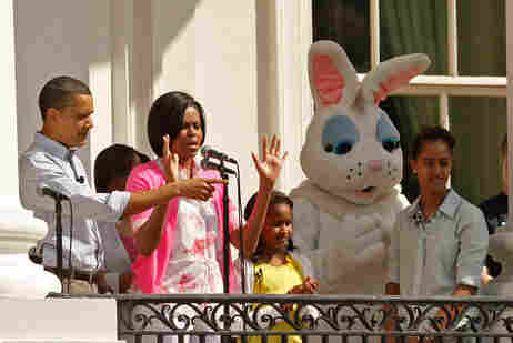 The Obama family at the White House Easter Egg Roll