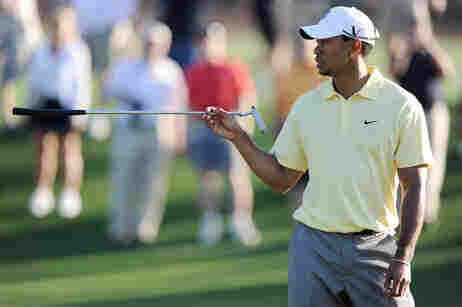 Tiger Woods at Masters practice round.