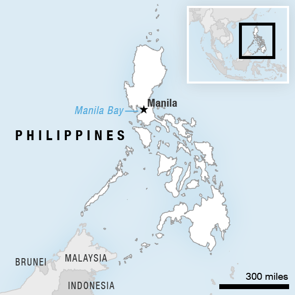 Map showing the location of the Philippines