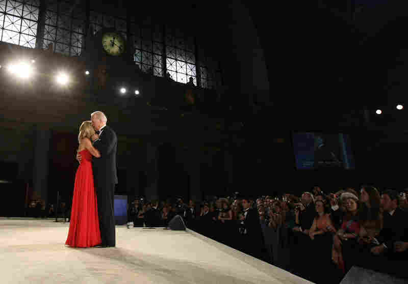 Vice President Joe Biden dances with his wife, Jill, at the Eastern States Ball at Union Station.