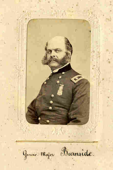 After his military career, Union Army Gen. Ambrose Everett Burnside served as governor and then U.S. senator from Rhode Island.  His penchant for whiskers set off a style known even today as sideburns.