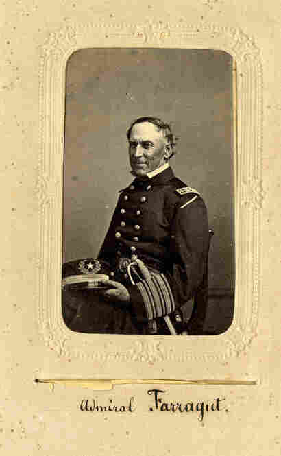 Farragut was the first admiral of the U.S. Navy, serving during the Civil War.