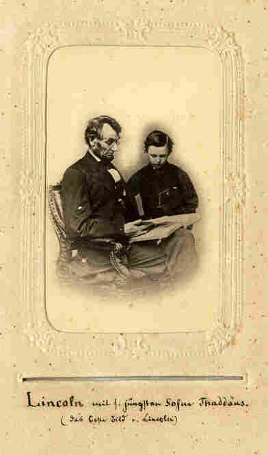 Abraham Lincoln and one of his four sons.