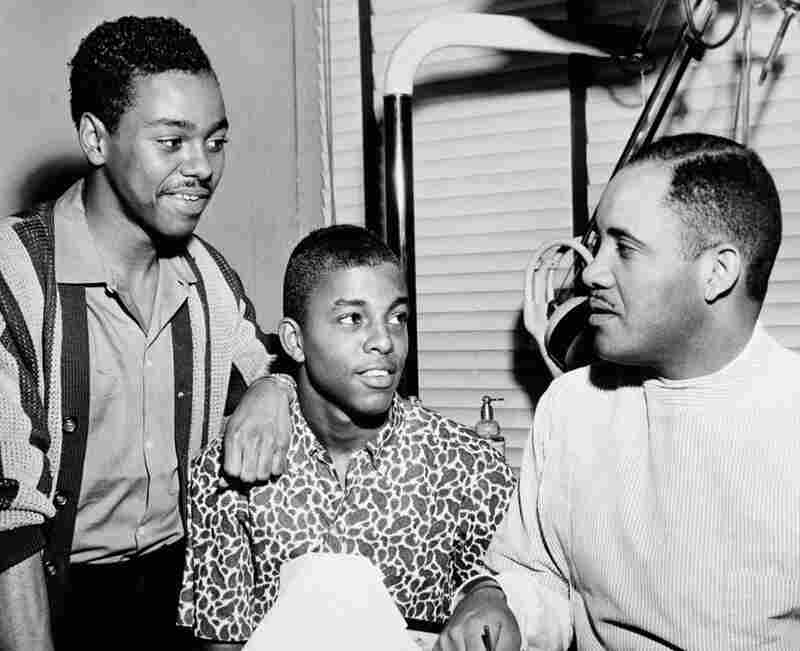In 1960, members of the NAACP Youth Council led a series of sit-ins at segregated lunch counters in Greensboro, N.C., which eventually resulted in more than 60 stores officially desegregating.  Ezell Blair Jr., 17, (center) was the student leader in the first sit-down demonstration. With him are fellow student Joseph McNeil (left) and NAACP leader Dr. George Simkins.