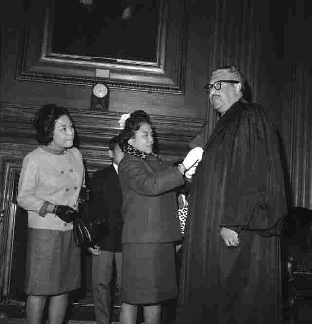In 1967, Thurgood Marshall became the first black justice on the Supreme Court.  As the NAACP's chief counsel, Marshall was also a key player in the 1954 Brown v. Board of Education case, which found racial segregation in schools unconstitutional.