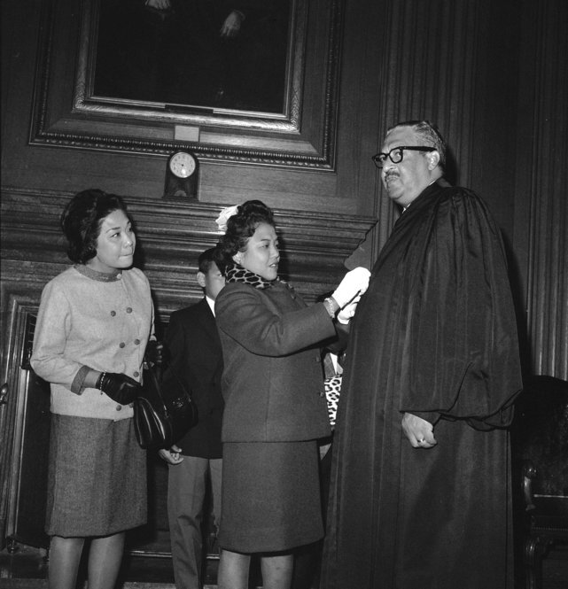 a biography of thurgood marshall an american associate justice of the supreme court On august 30, 1967, the senate confirmed thurgood marshall as the first african-american to serve as a supreme court justice marshall was no stranger to the senate or the supreme court at the time marshall was confirmed in a 69-11 floor vote to join the court.