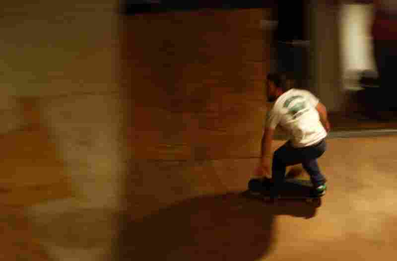 """Fight Club's leader Ben Ashworth picks up the pace when he hits the bowl. At 34 years old, he says he can't match some skaters on tricks, """"Speed is about all I've got these days, but I give it all I can."""""""