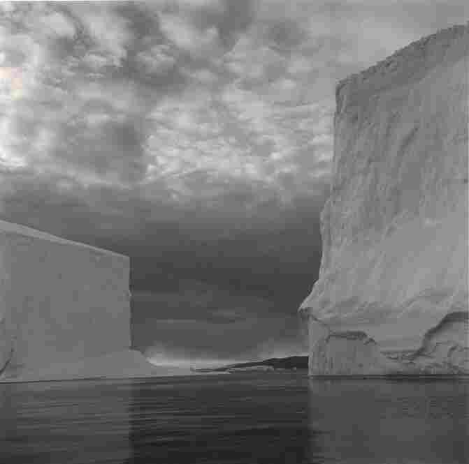 """Iceberg #23, Disko Bay, Greenland,"" 2000, gold-toned gelatin silver print."