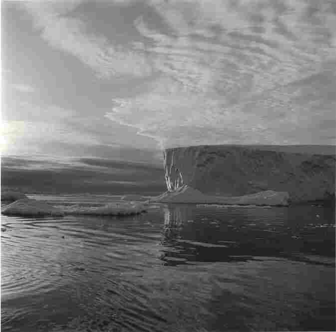 """Iceberg #28, Disko Bay, Greenland,"" 2000, Gold toned gelatin silver print."