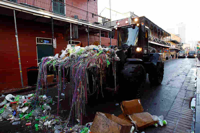 The city of New Orleans profits from its Mardi Gras celebrations, but it pays a price in cleaning up.