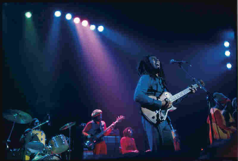 Marley performs during the Exodus Tour.