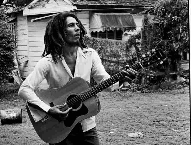 This series of black and white images was taken at Tuff Gong, Bob Marley's home and headquarters in Kingston, Jamaica, in March 1976.