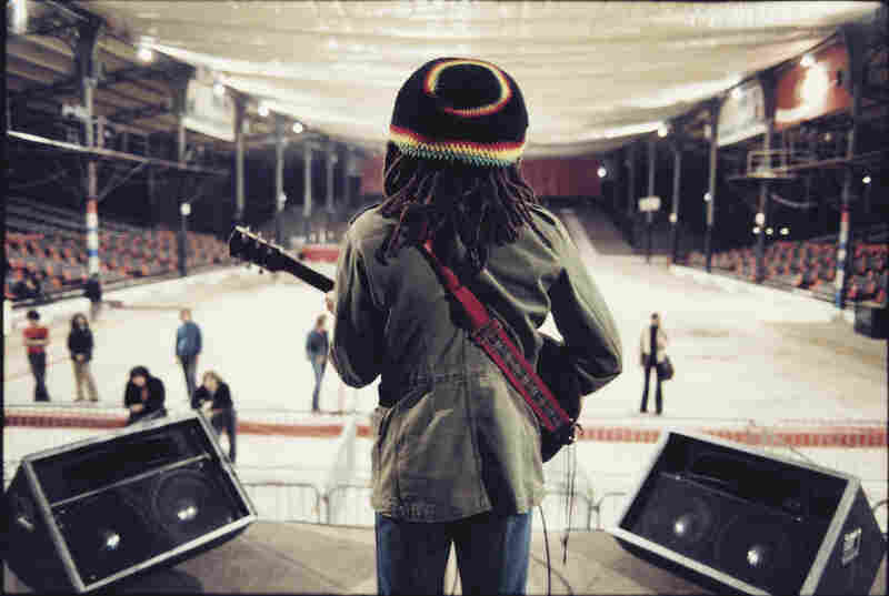 Marley performs a sound check in Paris.