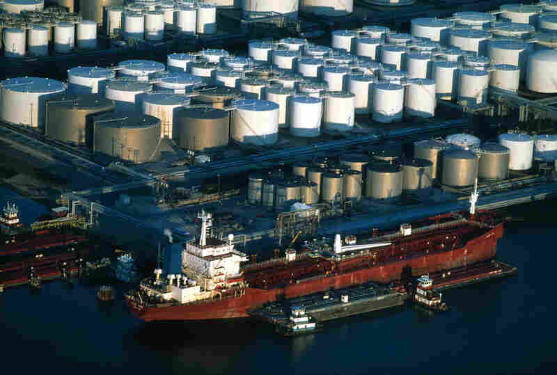 America's transportation infrastructure includes an unseen network of ships, tanks, pipelines and trucks that ultimately move fuel to end-users at the pump. The Houston Ship Channel on the Gulf Coast is a central hub for receiving imported oil.
