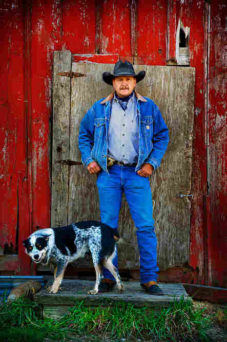 """Brooke Ryan Turner raises cows, kids and crops in Clarinda, Iowa. """"I'm a cowboy poet,"""" he says. """"I've been singing since I was a little bitty tyke on the tractor."""""""