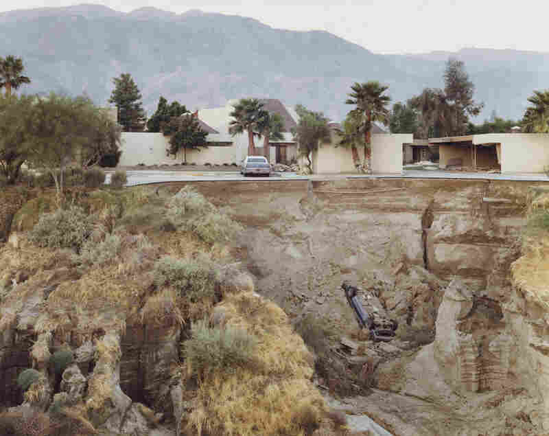 After a Flash Flood, Rancho Mirage, California, 1979Joel Sternfeld, born 1944, is another key pioneer of color photography.  Many of his images require a second look, often resulting in a chuckle.  2009 Joel Sternfeld)