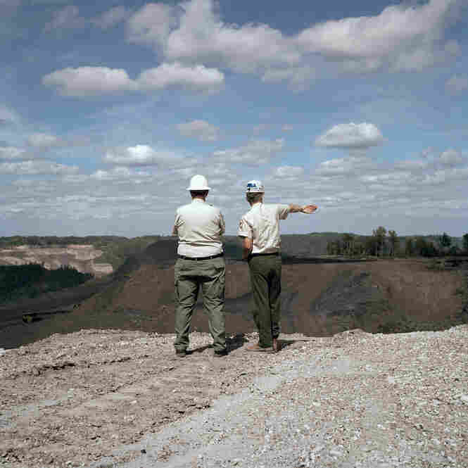 The Department of Environmental Protection is West Virginia's state-level EPA. Here, two DEP officials approve a permit request for an extension on a current mountaintop removal site.