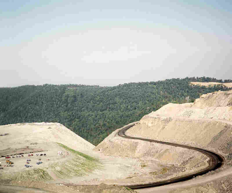 "The mountaintop removal site on Kayford Mountain near Charleston, W. Va. was nicknamed ""Hell's Gate"" by local resident and anti-mountaintop removal activist Larry Gibson."