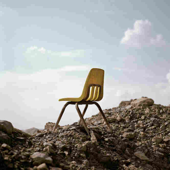 Larry Gibson sits in this chair every day to watch his back yard give way to coal extraction.