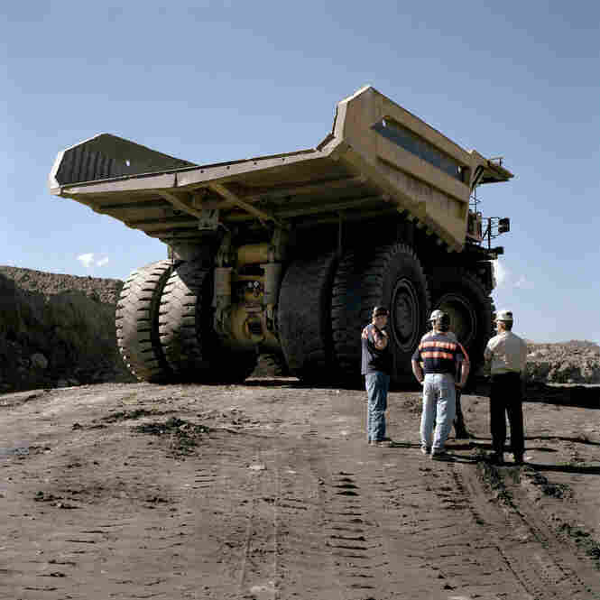 Mountaintop removal requires some of the largest industrial equipment produced in the world, such as this typical dump truck used on site.