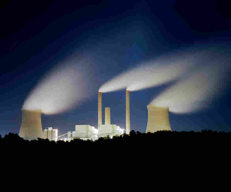 A coal-fired power plant along the Ohio River at night. Much of the coal being extracted in Appalachia ends up in these plants that dot the Southern Ohio landscape.