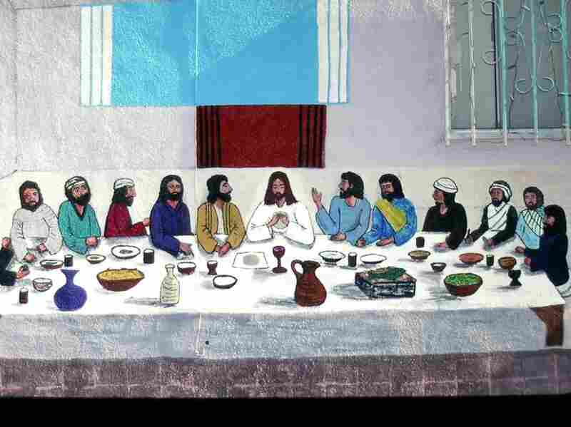 Last Supper by Manuel G. Cruz, on the side of El Toro Meat Market, East Los Angeles, 2001