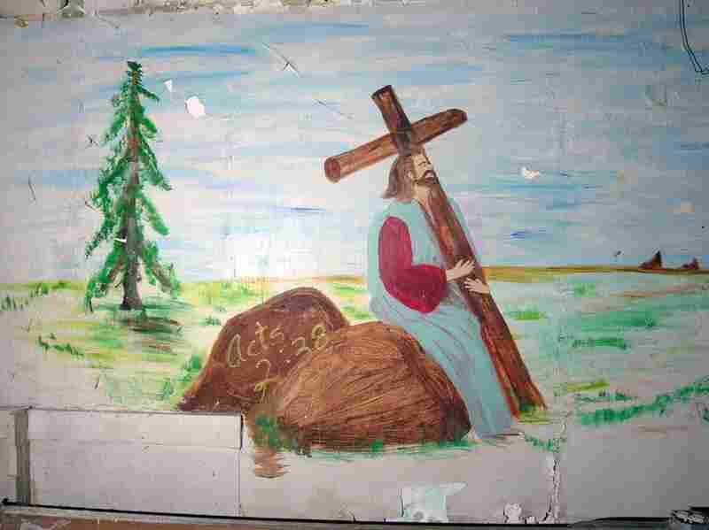 Christ rests in a landscape that looks more like Michigan than Jerusalem, Detroit, 2005