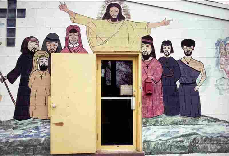 Mural painted by a schoolboy member of the church, Chicago, 1992