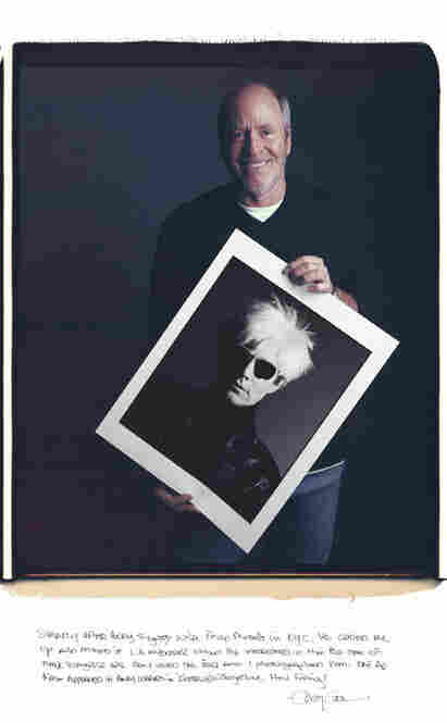 "Greg Gorman's portfolio explores a fascinatin with celebrity. Andy Warhol had just signed with a New York modeling agency and asked Gorman if L.A. Sunglasses would be interested in [using] him as a model. ""They loved the idea,"" writes Gorman, ""and I photographed him."""