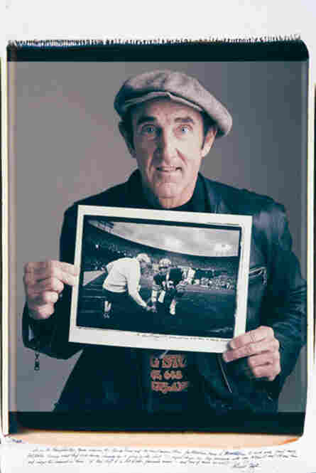 "Michael Zagaris is a rock 'n' roll photographer, but was also the team photographer for the San Francisco 49ers in the 1970s. In a championship game with the Chicago Bears, Zagaris describes, ""Joe Montana came to the sidelines to meet with head coach Bill Walsh. ... I laid down on my stomach ... and froze this moment in time. To this day it is Bill Walsh's favorite image... and one of mine as w..."