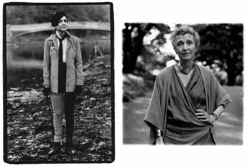 Julie Motz, Central Park, 1984 (left). Julie Motz, 2006.