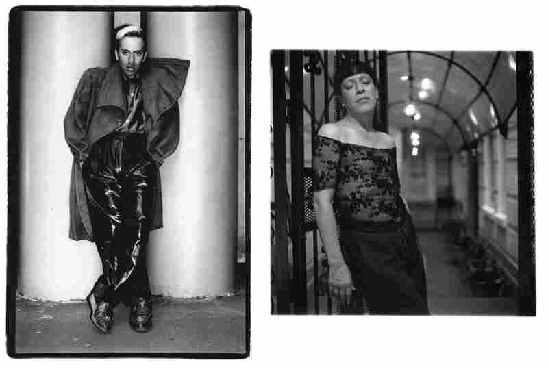 Joey Arias at Fiorucci, 58th Street and Lexington Avenue, 1982 (left). Joey Arias, 2006. Arias is a performance artist, singer and drag performer.