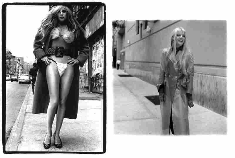 Phoebe Legere fur bikini, 10th Street and Avenue B, 1987 (left).  Phoebe Legere, 2006. Legere is a musician.
