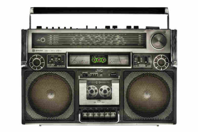 """Lyle Owerko describes the first few of his boomboxes.  """"I think ..."""" he says, """"you will find some really great pictures of RUN-DMC in the '80s with this box."""""""