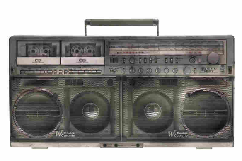 """The aircraft carrier of boomboxes. This is a classic, and the Sharp GF777 was pretty much when boomboxes peaked ... in size. This one was what you played in a subway station when you were with your break dance crew and you wanted the music loud and you [wanted] to be heard."""