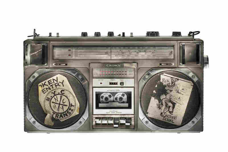 Boomboxes, like this Crown model, reigned in an era when listening to music was a social activity.