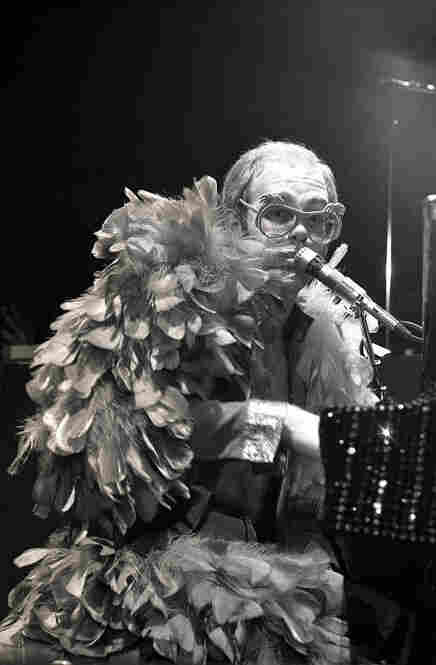 """I first met Elton in Hawaii when the promoter told me to head to J.C. Penny, where Elton was doing an in-store performance.  He said, 'This guy is going to be the next big thing.' I'd never heard of him. ... I couldn't figure out his clothes. Elton John, mid-1970s."