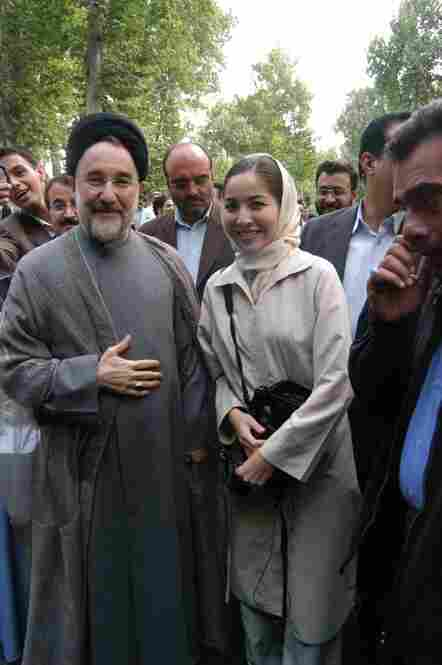 Jan. 31:  Roxana Saberi, who has dual Iranian and American citizenship, is arrested in Iran.  She's eventually allowed to make two quick phone calls to her parents in in Fargo, N.D.  She asks them not to tell anyone about her arrest.   Here, she's pictured in 2003 with then-President Mohammad Khatami.