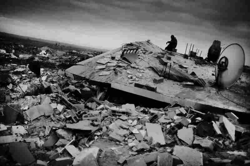 Not one house remains standing in the residential area Jabaliya, on the outskirts of Gaza City, after 22 days of Israeli bombardment.