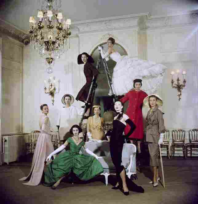 Models in Christian Dior, 1957