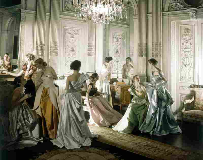 Models in dresses by Charles James, Vogue, 1948  Conde Nast Publications)
