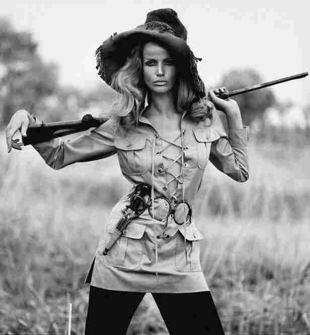 Veruschka in safari suit by Yves Saint Laurent, French Vogue, August, 1968