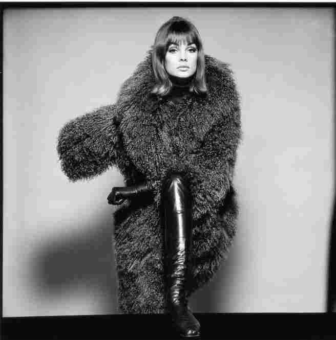 Jean Shrimpton in coat by London of Sloane Street, British Vogue, January 1964